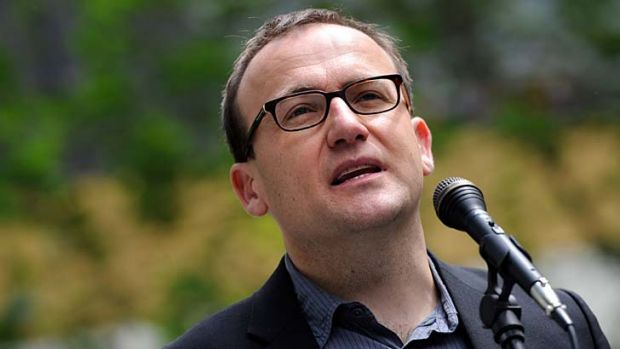 """On track ... Adam Bandt, acting leader of the Greens, says the party's """"reasonable"""" tax propsal should get support from ..."""