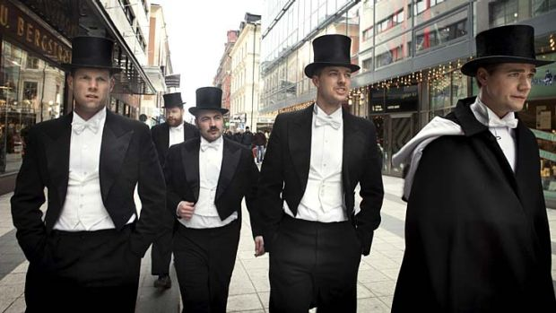 Dapper Swedes ... garage-punks the Hives endure two decades on; Howlin' Pelle Almqvist (far right).