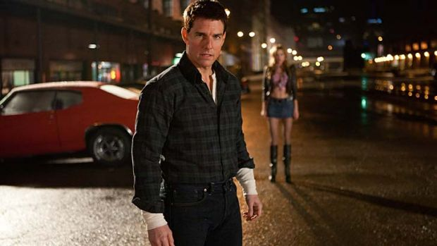 Shot in the dark ... Tom Cruise doesn't seem the obvious choice to play the towering tought guy Jack Reacher, but he is ...