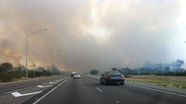 The view from Kwinana Freeway.
