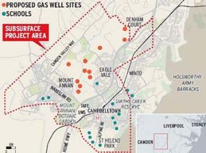 Proposed gas drilling sites.