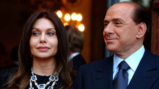 Paid out ... Silvio Berlusconi's ex-wife Veronica Lario.
