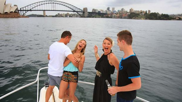 Well prepared … for the Heley-Wrights, Stuart, Mariah, Sharon and Sam, New Year's Eve on the harbour is a family ...