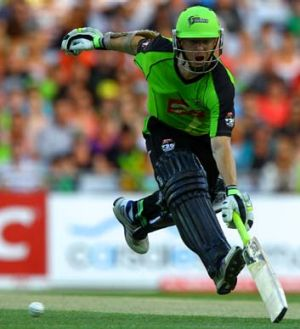 Frustrated ... Chris Rogers.