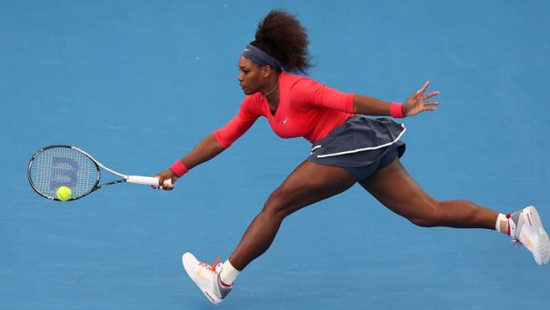 Serena Williams breezes past fellow American Varvara Lepchenko during day one of the Brisbane International.