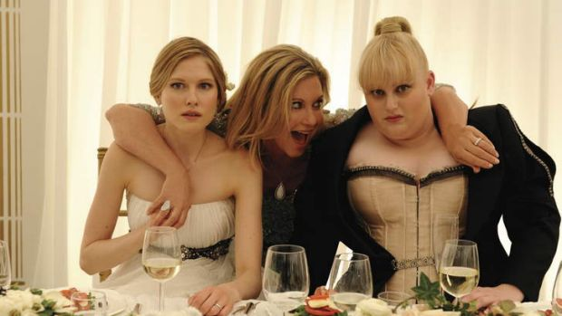Laura Brent, Olivia Newton-John and Rebel Wilson in <i>A Few Best Men</i>.