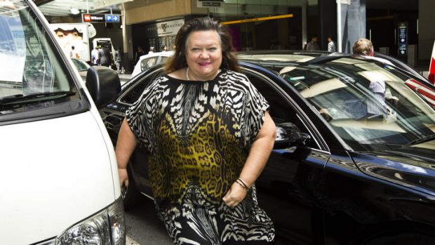 Gina Rinehart arriving at the Channel Ten AGM at the Wesley Center in December, 2012.