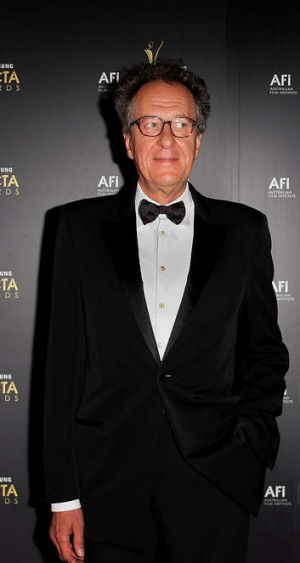 Geoffrey Rush at the 2012 AACTA awards at the Sydney Opera House.