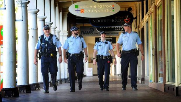 Some of the ACT police officers that will be working on New Year's Eve to ensure the safety of Canberra's revellers. ...
