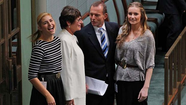 All in ... Tony Abbott's leading ladies will champion the Coalition's ailing image in the eyes of women.