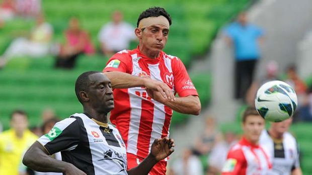 Boost: Heart will be buoyed by the return of defender Simon Colosimo (right).