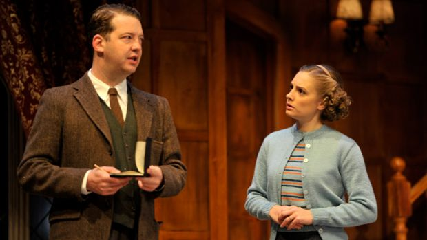Christy Sullivan plays Mollie Ralston with Justin Smith as Detective-Sergeant Trotter in Agatha Christie's Mousetrap.