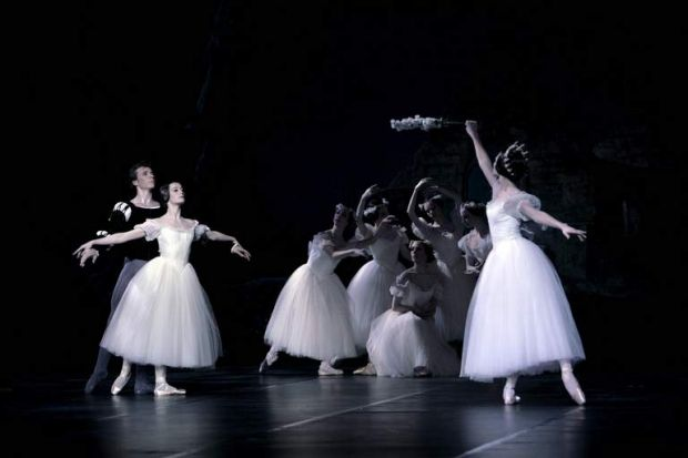 The Paris Opera Ballet's production of Giselle. The ballet's second act features the spirits of young women who have ...