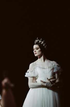 Marie-Agnes Gillot dances the role of Myrtha, Queen of the Wilis.