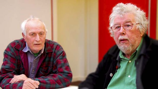 Visionaries … musical inventor Peter Zinovieff, left, and composer Harrison Birtwistle.