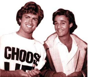 The chart-toppers Wham.