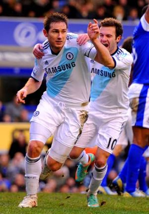 Winner ... Frank Lampard completes his double.