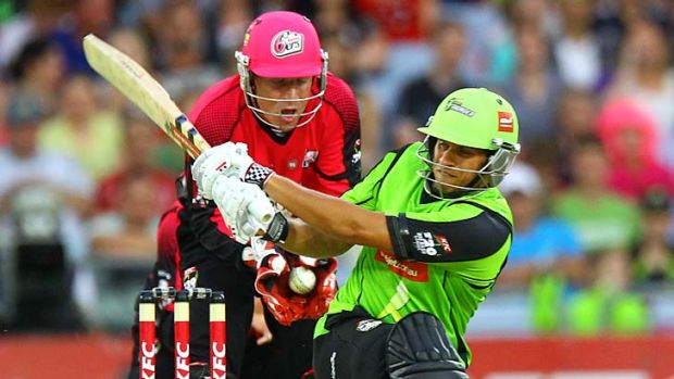 Prospect ... Usman Khawaja takes on the Sixers.