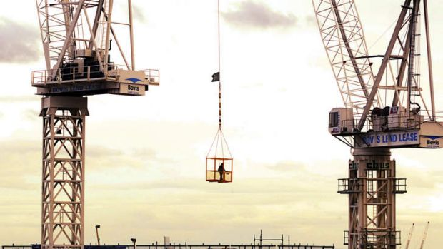 Signs of recovery ... ''It is positive to see so many cranes on the horizon.''
