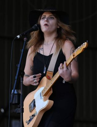 Bethany Cosentino of Best Coast performs at The Falls Music and Arts Festival at Lorne.