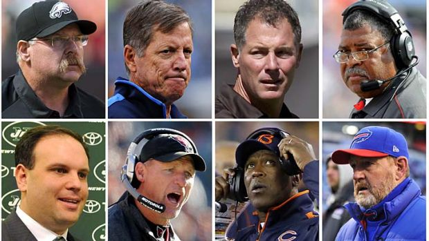 The fired head coaches and management are, top row (L to R), Philadelphia Eagles head coach Andy Reid; San Diego ...