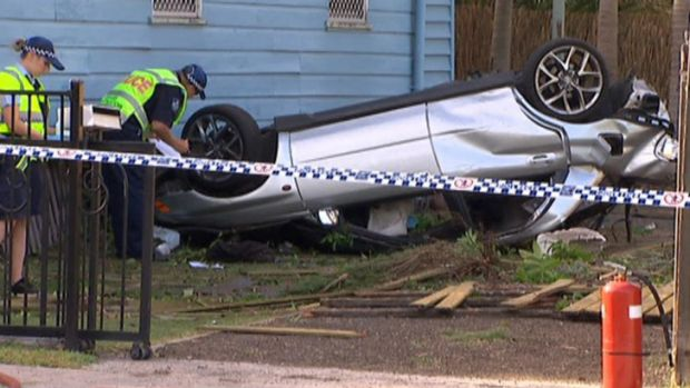 Two people are dead and one is seriously injured after a crash west of Brisbane.