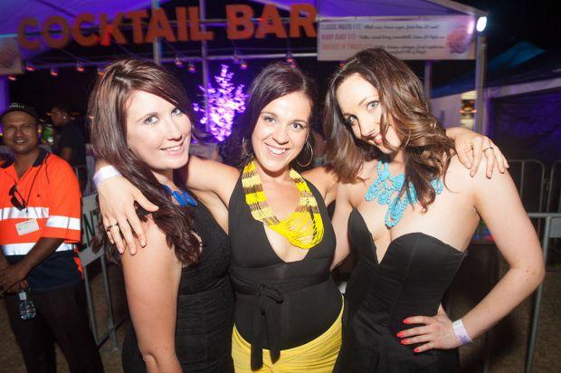 Chanel Legg, Taylia Hinkley and Bec Smith.