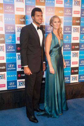 Jo-Wilfried Tsonga and Mathilde Johansson.