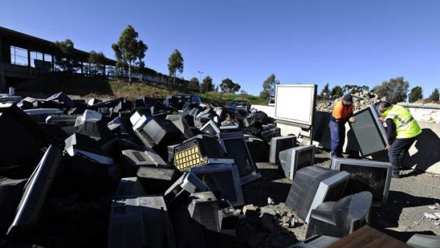 Techno trash... Canberra has seen a huge increase in e-waste.