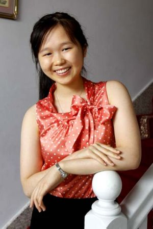 $10,000 question ... Beryl Lin, planning to do medicine, is being wooed by Sydney and NSW universities.
