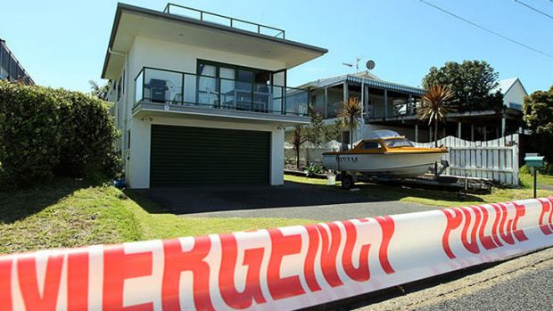 The location at Waihi Beach, New Zealand, where a Queensland man was stabbed on New Year's Day.