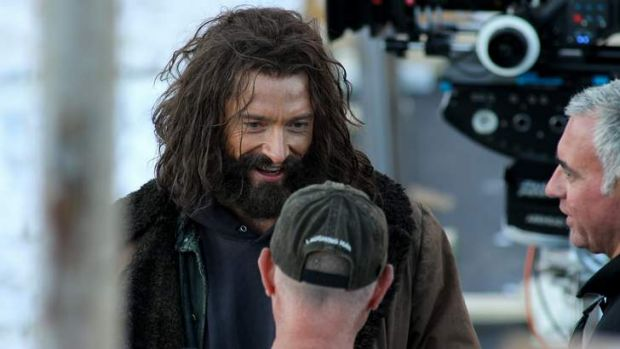 Hugh Jackman on set of the new Wolverine movie being filmed in Picton.