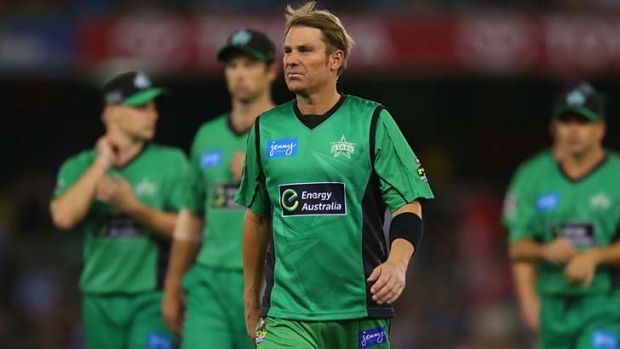 Fly-by: Shane Warne is back to play in Brisbane.