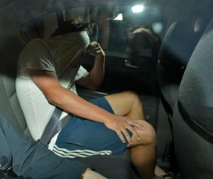 Dylan John Closter leaves the St Kilda Road police complex after being charged with manslaughter.