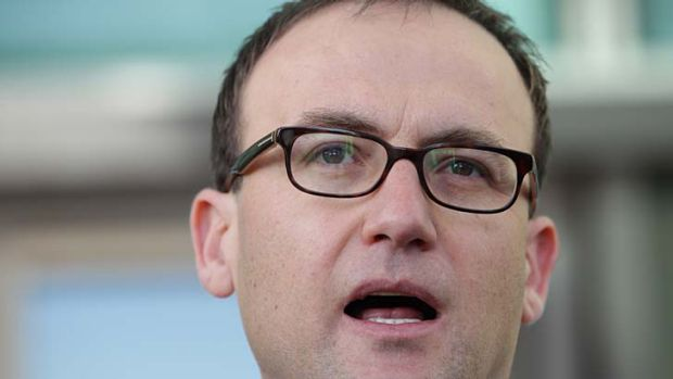First-hand experience ... Adam Bandt, acting Greens leader, said he would spend a week living on $35 a day next month.