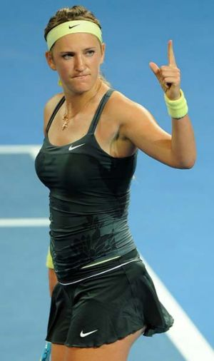 Way to the top … Victoria Azarenka in Brisbane.