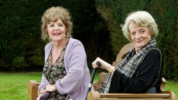 Joyful ... Pauline Collins and Maggie Smith play retired singers in Quartet.