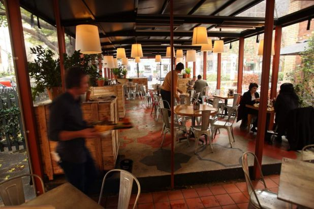 Trunk Bar & Restaurant has one of the largest courtyards in the city centre.