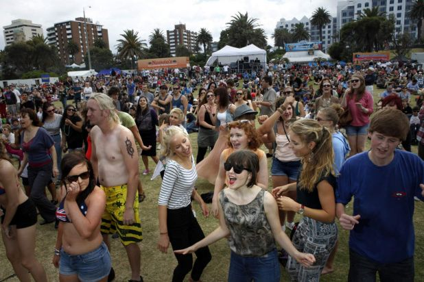 February's St Kilda Festival is spread over five stages and has a crazy, carefree atmosphere.