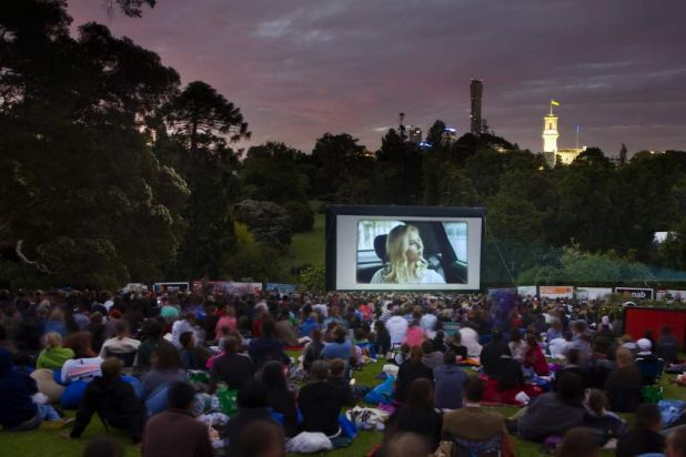 Moonlight Cinema in the Royal Botanic Gardens.
