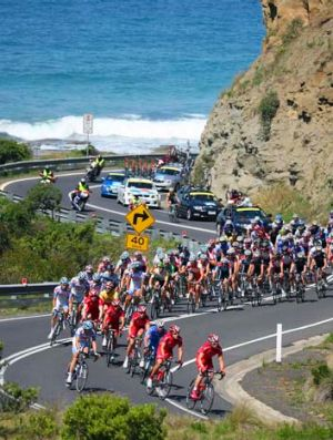 No sea breezes on day one for Tour participants.