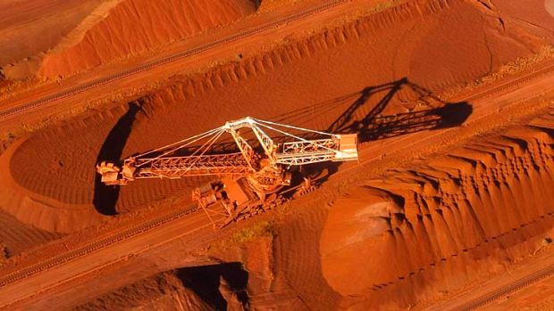 BHP Billiton's iron ore loading facility in Port Hedland.