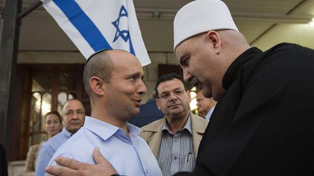 Naftali Bennett, left, of the Jewish Home party.
