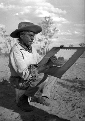 Painter ... Albert Namatjira in 1958.