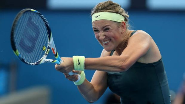 World No. 1 Victoria Azarenka easily beat Ksenia Pervak of Kazakhstan on day five of the Brisbane International at Pat ...