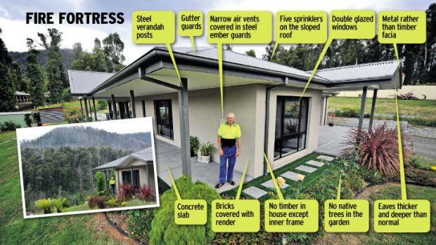 Graeme Weinberg at his Marysville home where he spent abut $60000 on meeting fire regulations.