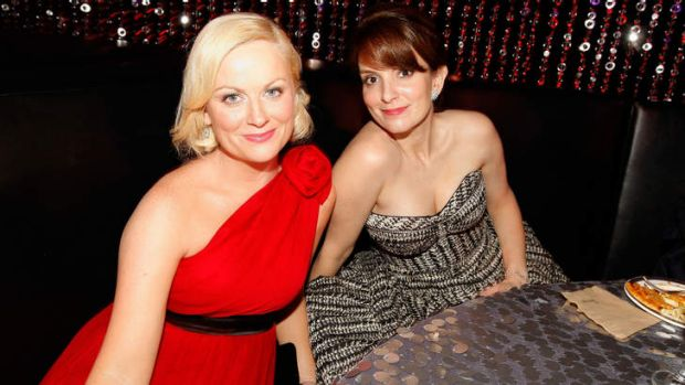 Funny ladies ... Tina Fey and Amy Poehler will host this year's Golden Globe Awards.