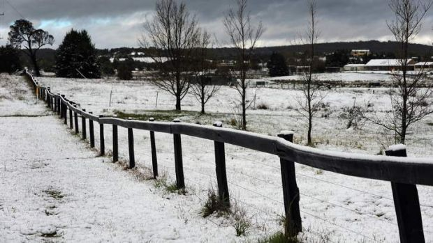 Snow fell in Wamboin, just outside of Canberra, in October. It was the coldest October on record in Canberra.