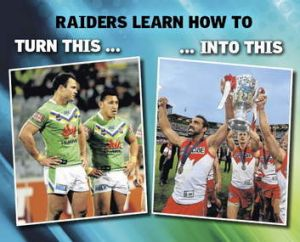 Culture club ... The Raiders want to be like the Swans