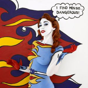 One of Emma Hack's works from the <i>Pop! Optimists</i> series, a homage to Roy Lichtenstein.